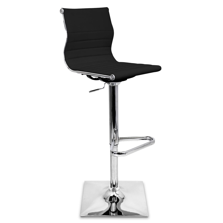 Dining Room Furniture - Pierce Adjustable Barstool - Black