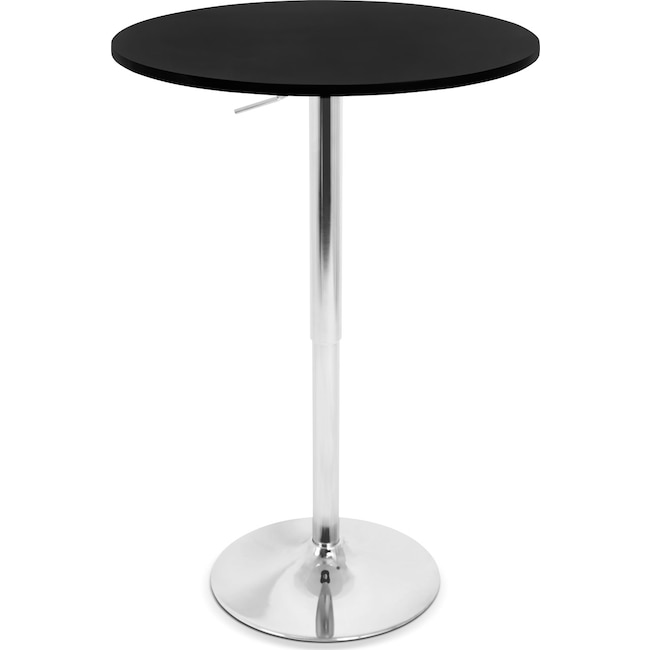 Popular Accent and Occasional Furniture Frankie Adjustable Bar Table Black Simple Elegant - Unique black pub table