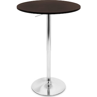 Frankie Adjustable Bar Table - Brown