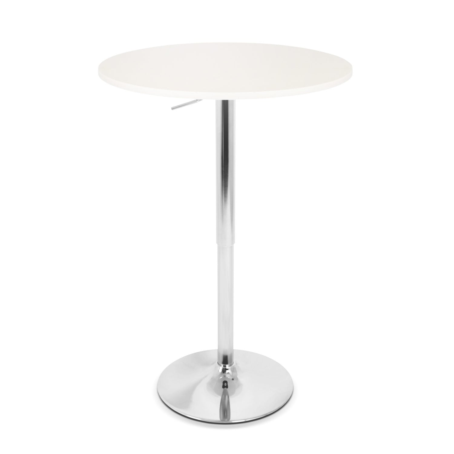 Frankie Adjustable Bar Table - White