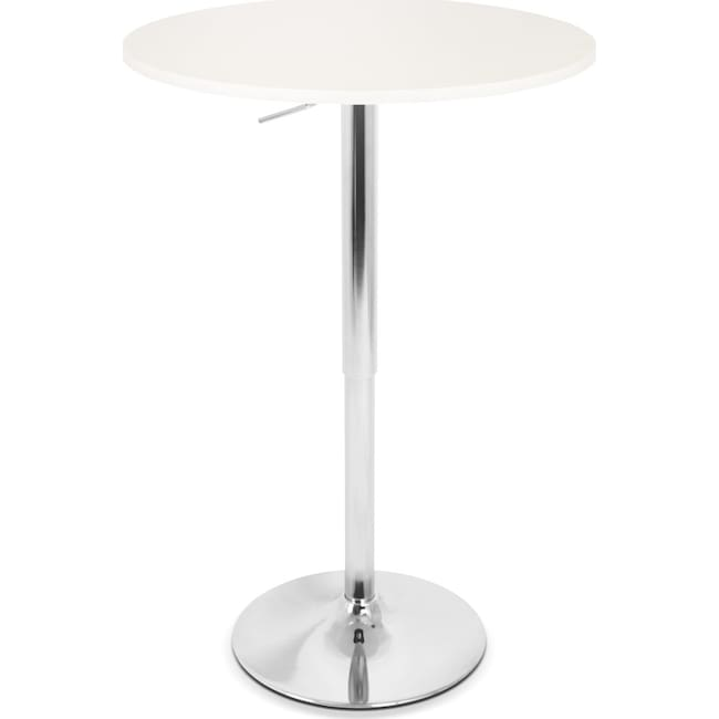 Dining Room Furniture - Frankie Adjustable Bar Table - White
