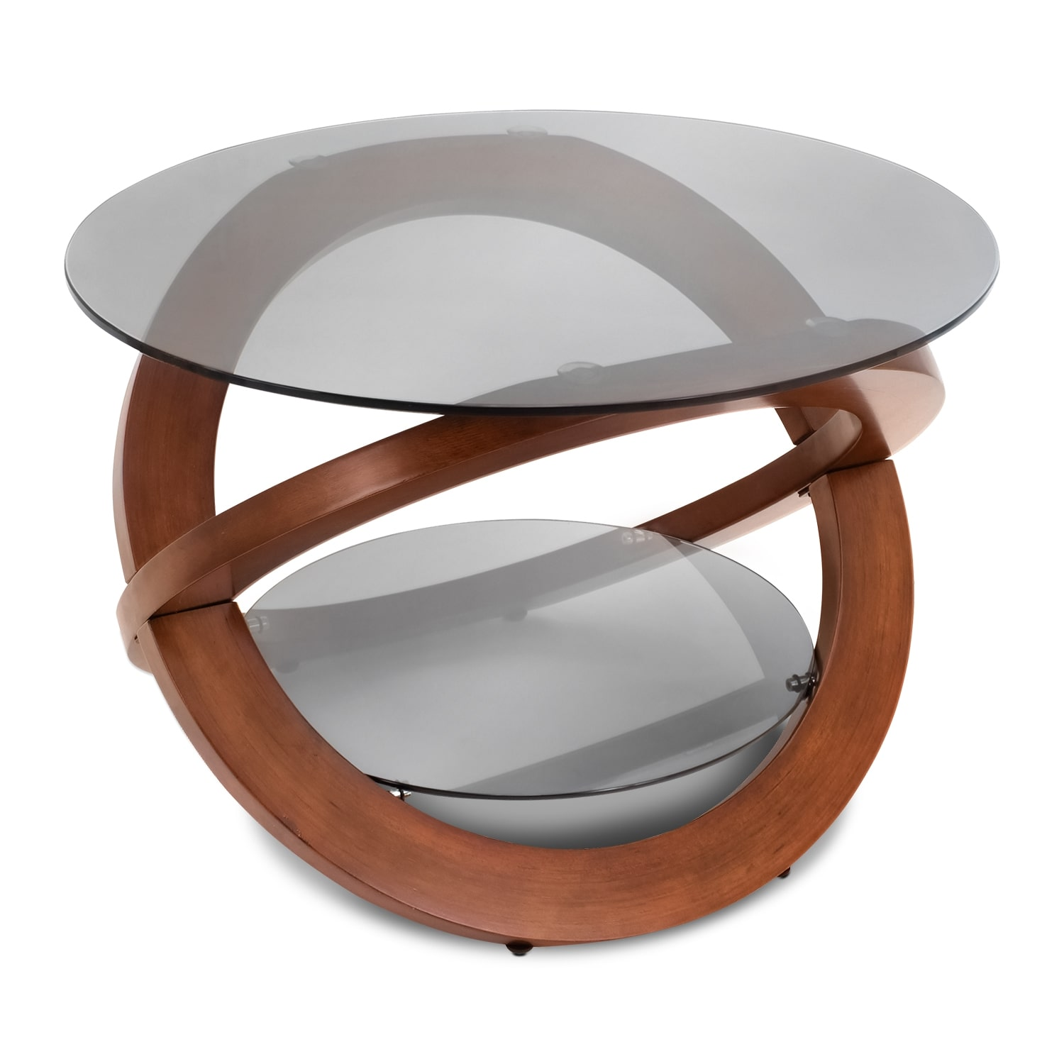 aiden coffee table - walnut | american signature furniture