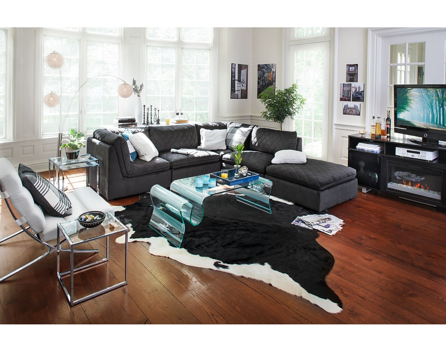[The Coco Charcoal Living Room Collection]