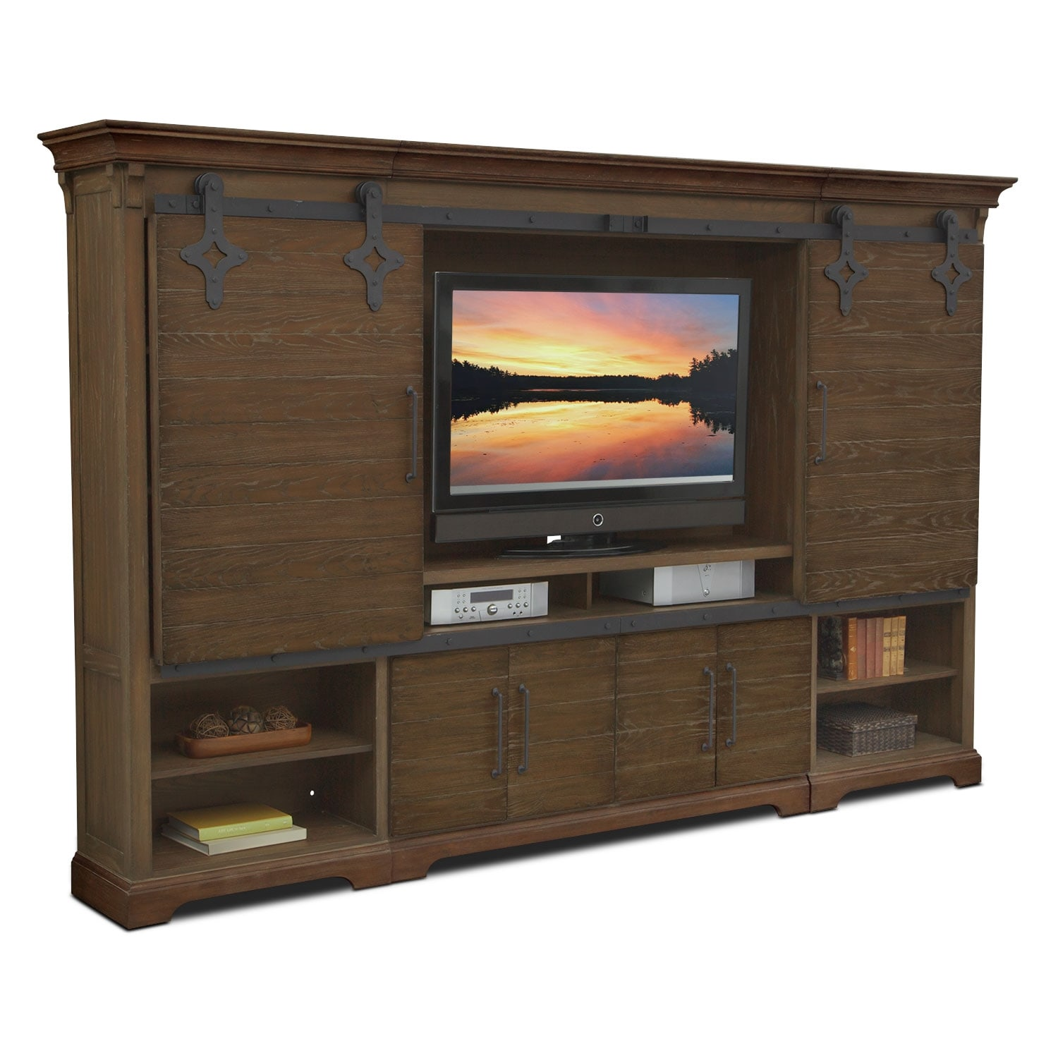 Union City 4 Pc. Entertainment Wall Unit