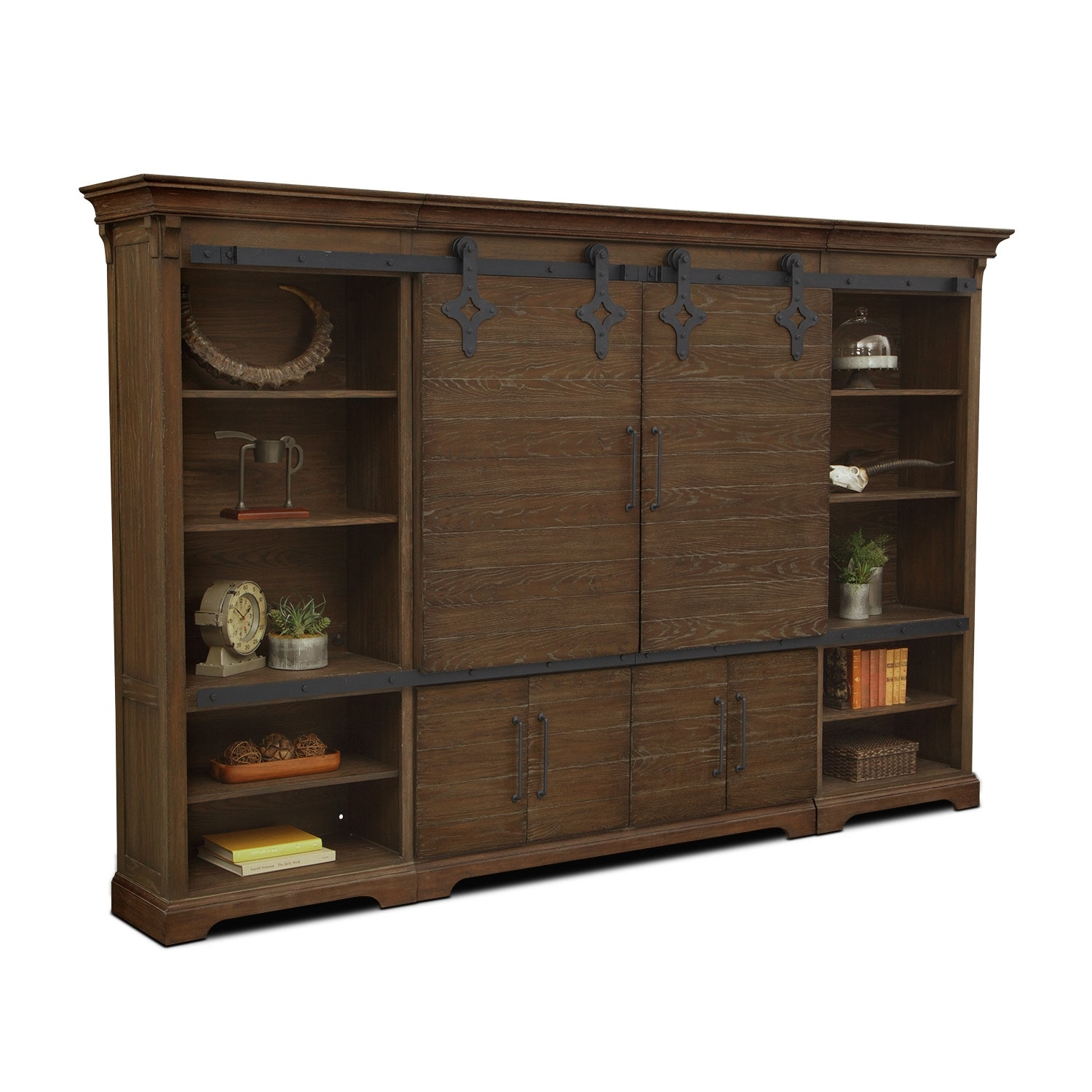 Union City Entertainment Wall Unit Brown American Signature Furniture