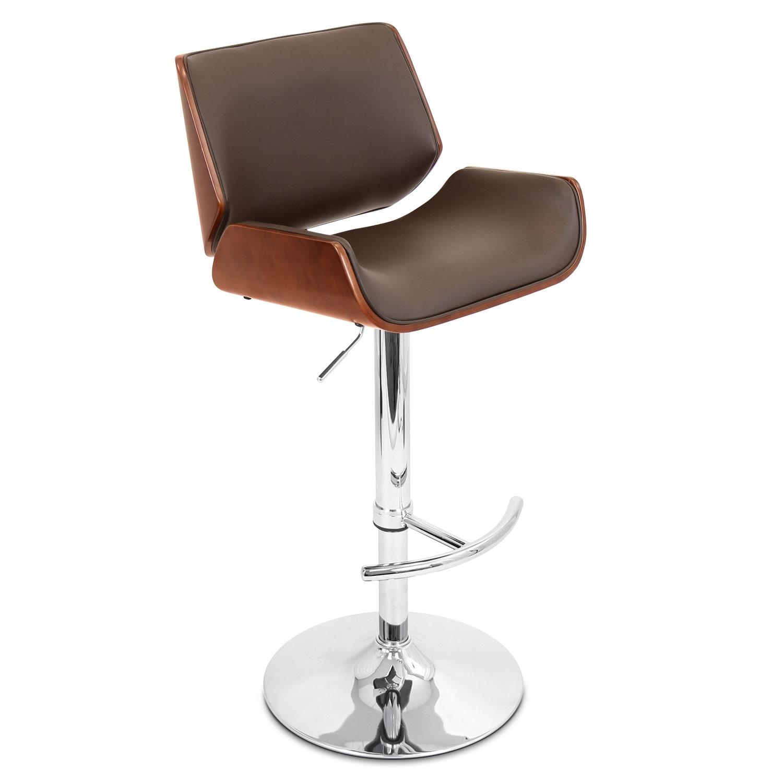 Dining Room Furniture - Catania Adjustable Barstool - Brown