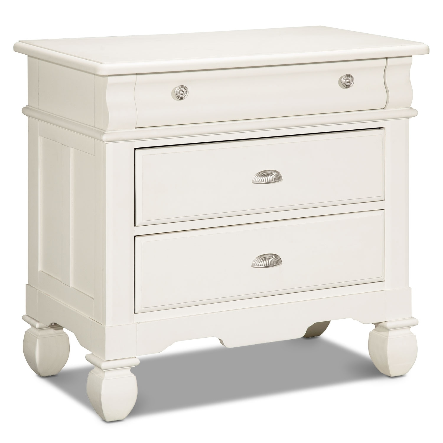 Plantation Cove Drawer Nightstand - White