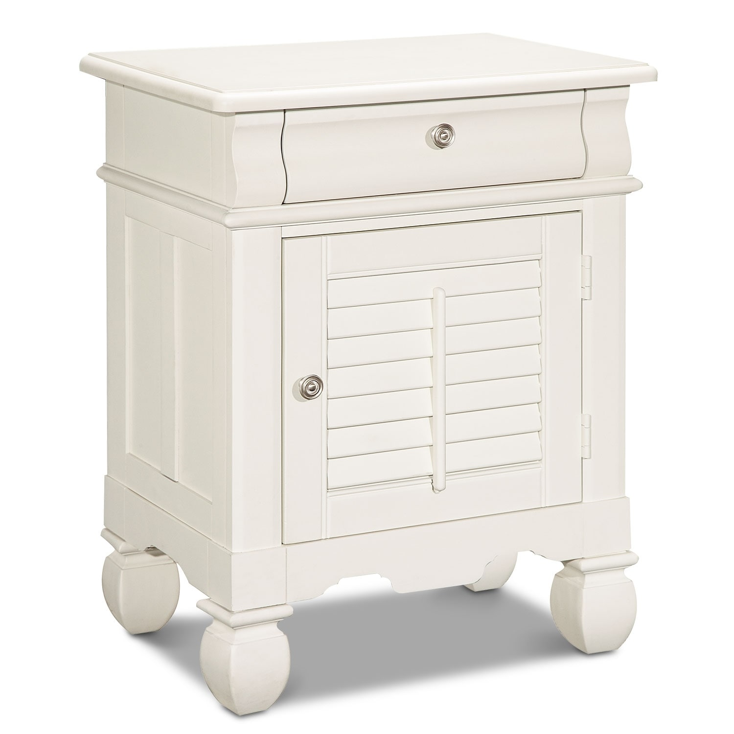 Bedroom Furniture - Plantation Cove Door Nightstand - White