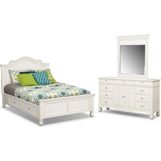 Plantation Cove 5-Piece Queen Storage Bedroom Set - White