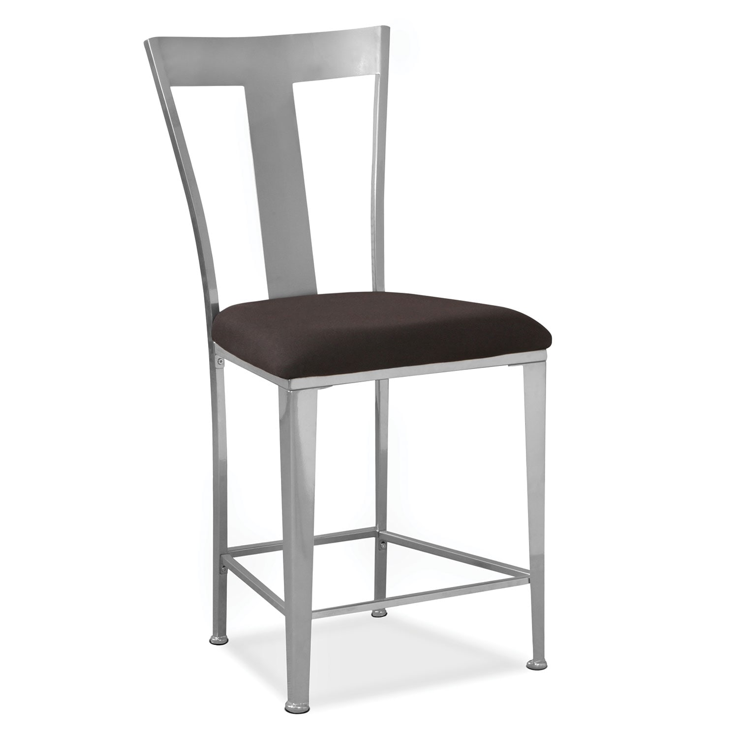 Dining Room Furniture - Silverton Counter-Height Stool - Silver