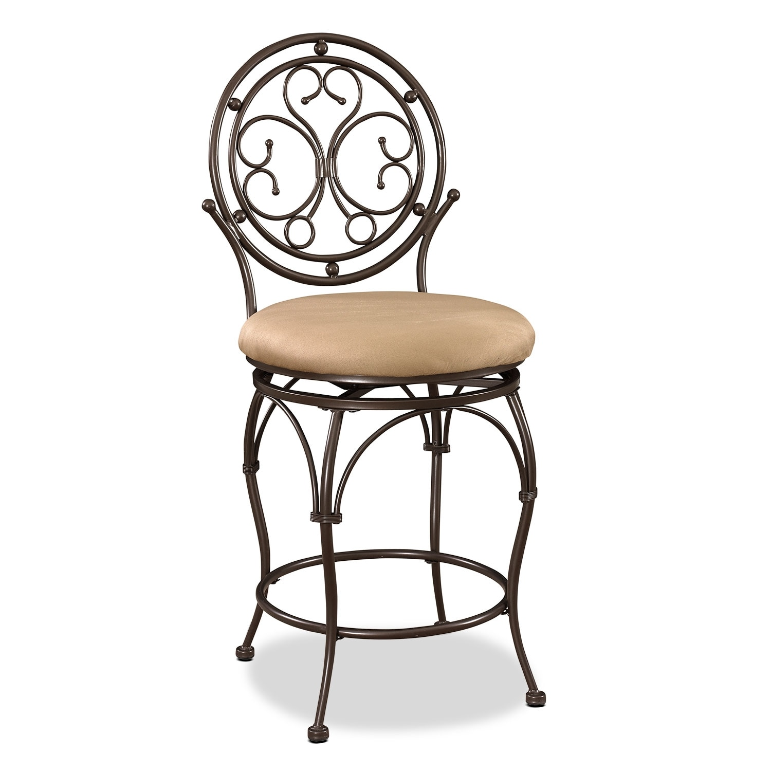 Accent and Occasional Furniture - Laurel Counter-Height Stool