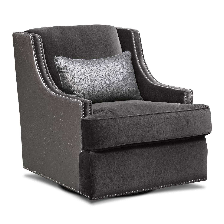 Nicole Charcoal Swivel Chair