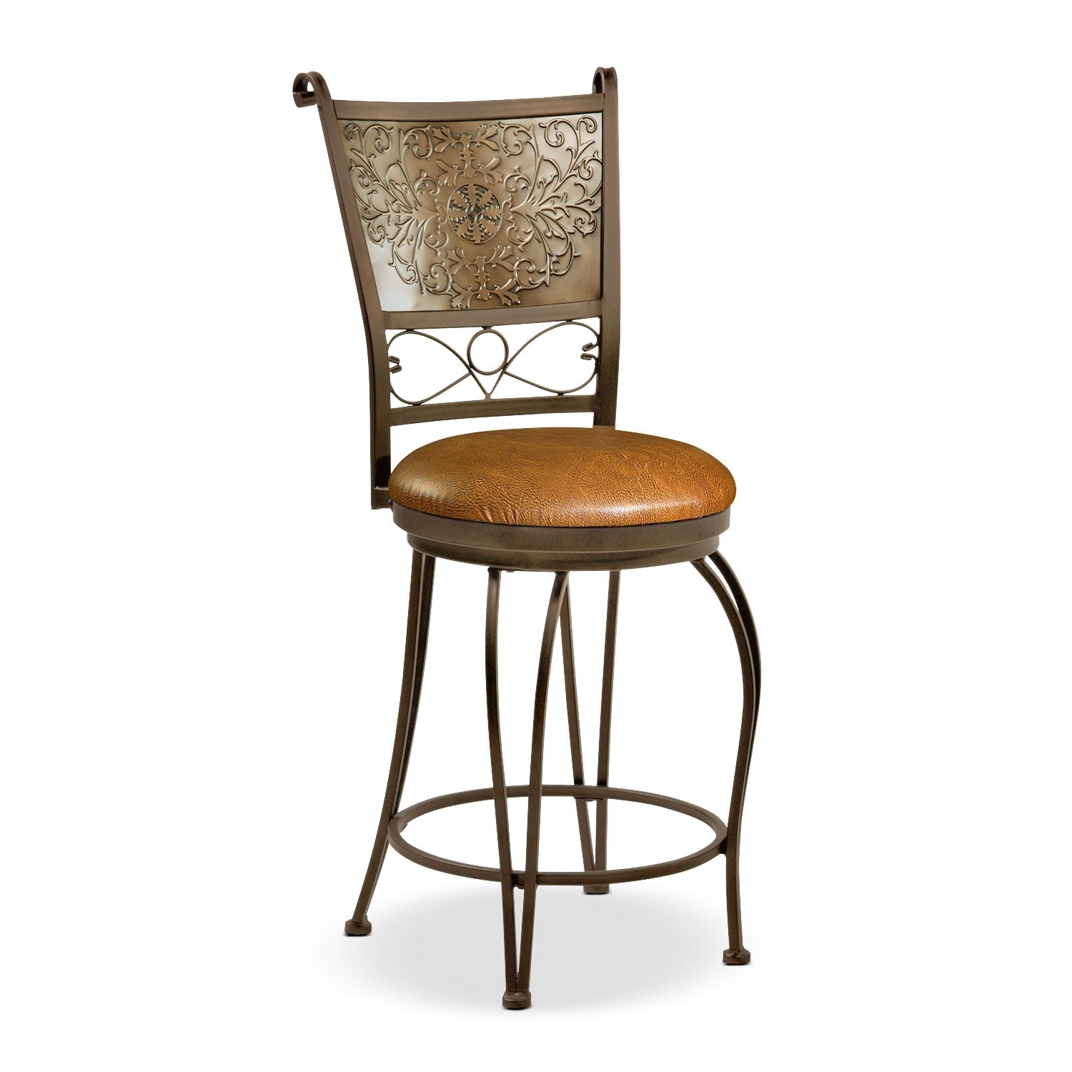 Darby Counter-Height Stool - Brown