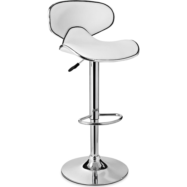 Accent and Occasional Furniture - Liv Adjustable Barstool - White