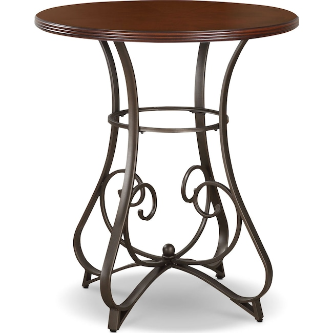 Accent and Occasional Furniture - Rosedale Pub Table - Medium Cherry