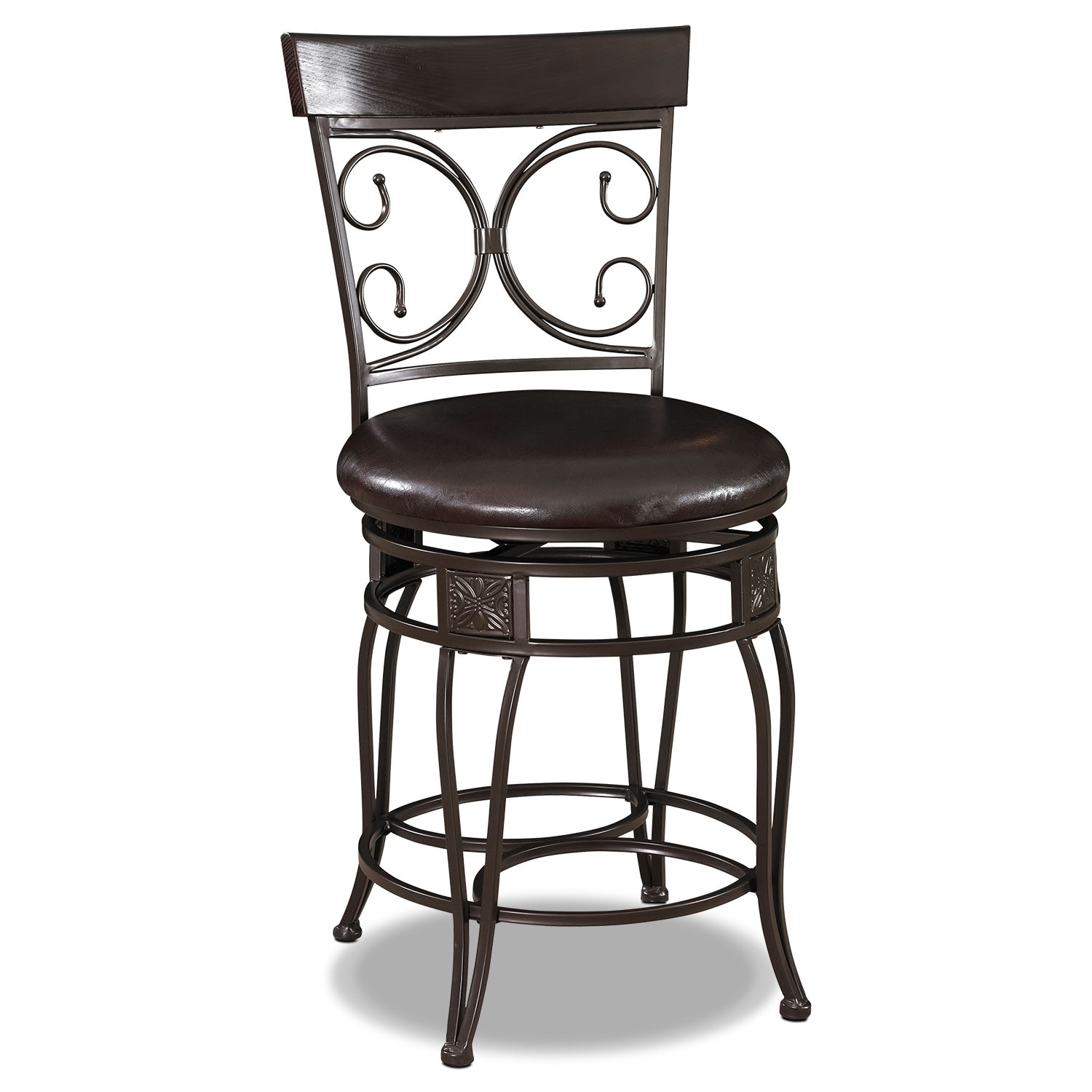 Bon Accent And Occasional Furniture   Grandview Counter Height Stool   Brown