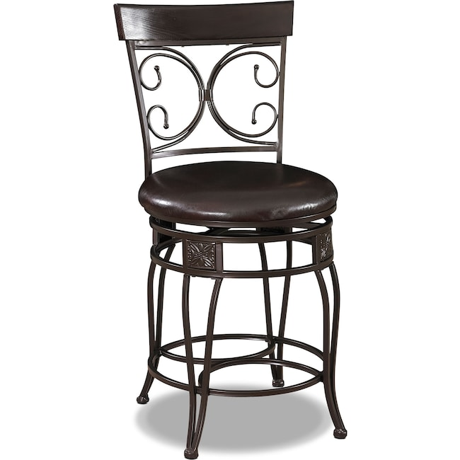 Dining Room Furniture - Grandview Counter-Height Stool - Brown