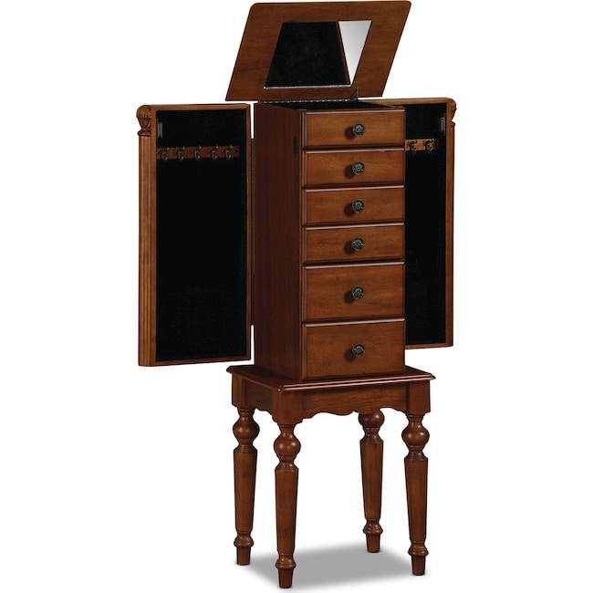 Accent and Occasional Furniture - Milton Jewelry Armoire - Cherry