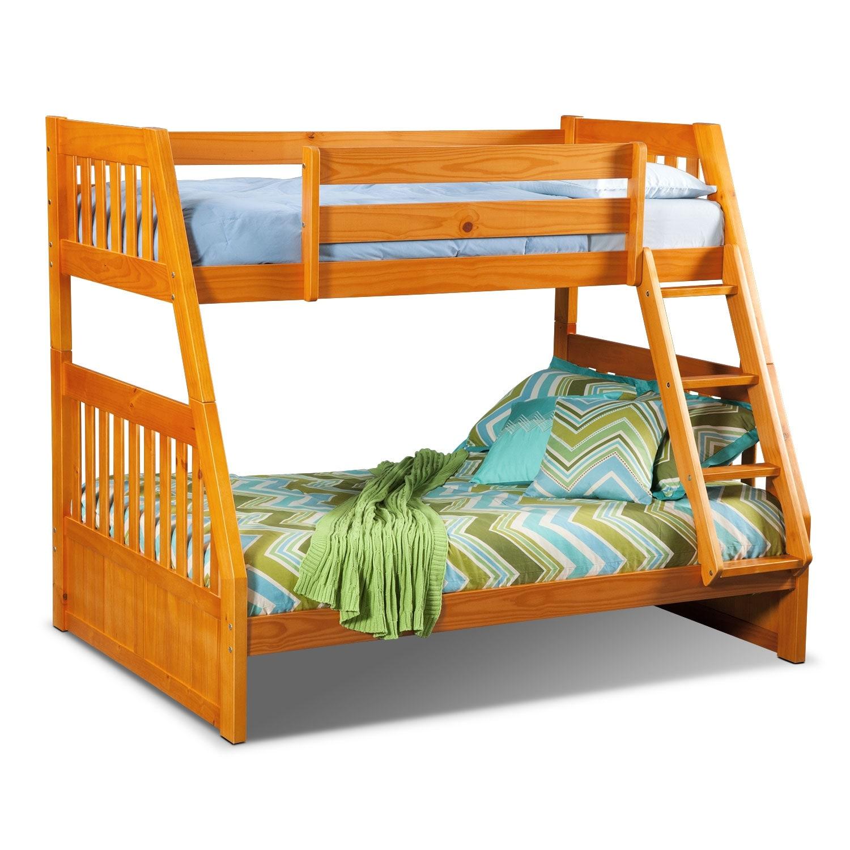 Kids Furniture - Ranger Twin over Full Bunk Bed