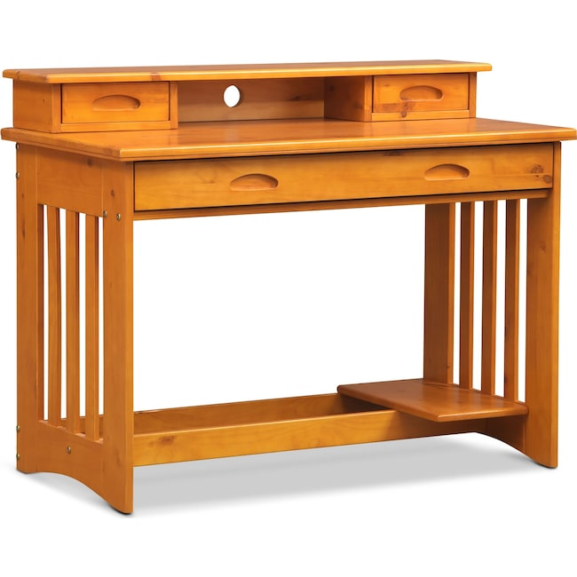 Kids Furniture - Ranger Desk with Hutch - Pine