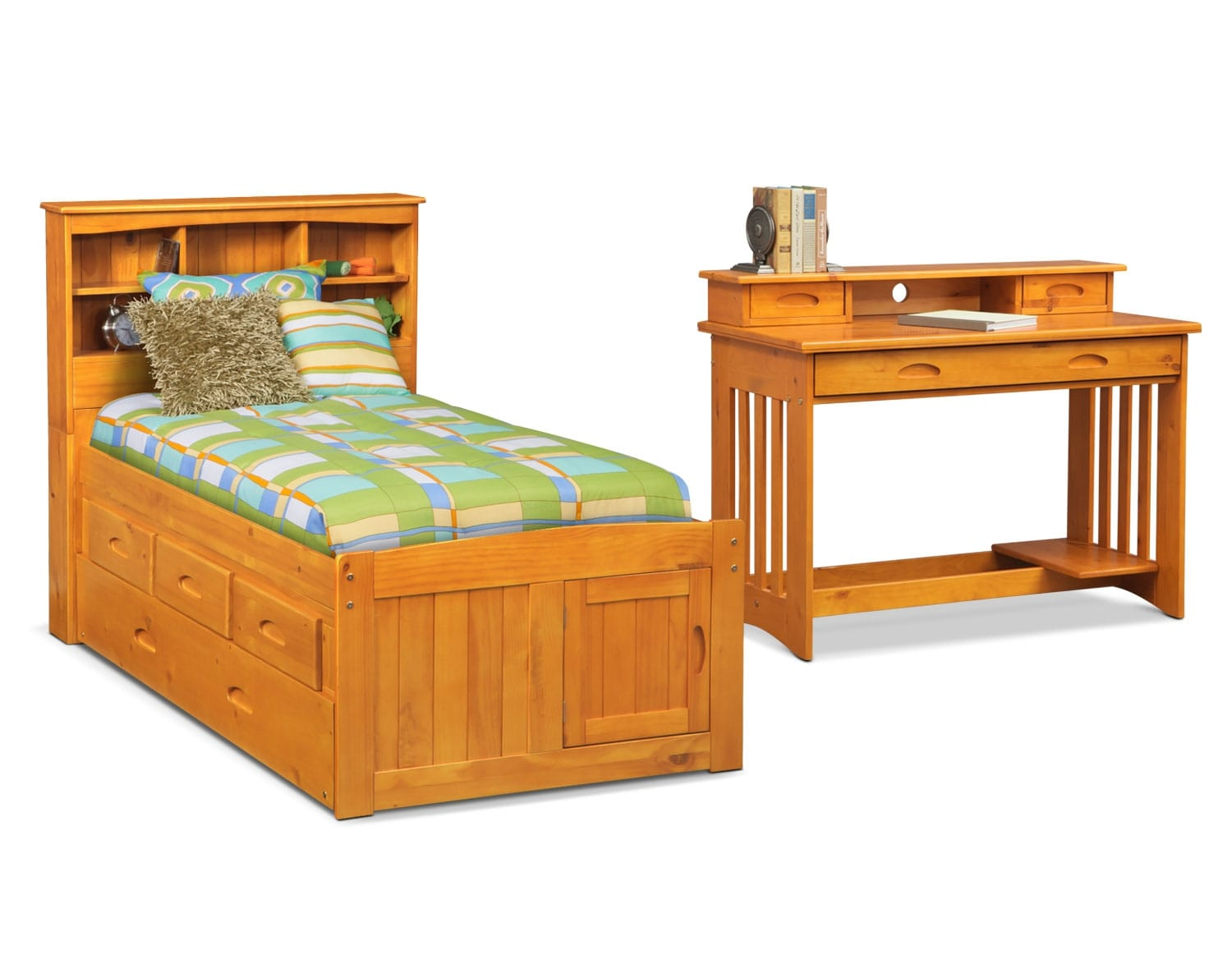 The Ranger Pine Bookcase Bed Collection
