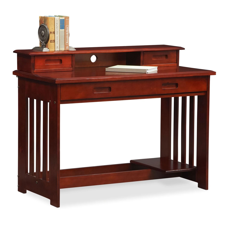 Kids Furniture - Ranger Merlot Desk with Hutch