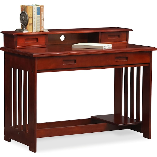 Kids Furniture - Ranger Desk with Hutch - Merlot