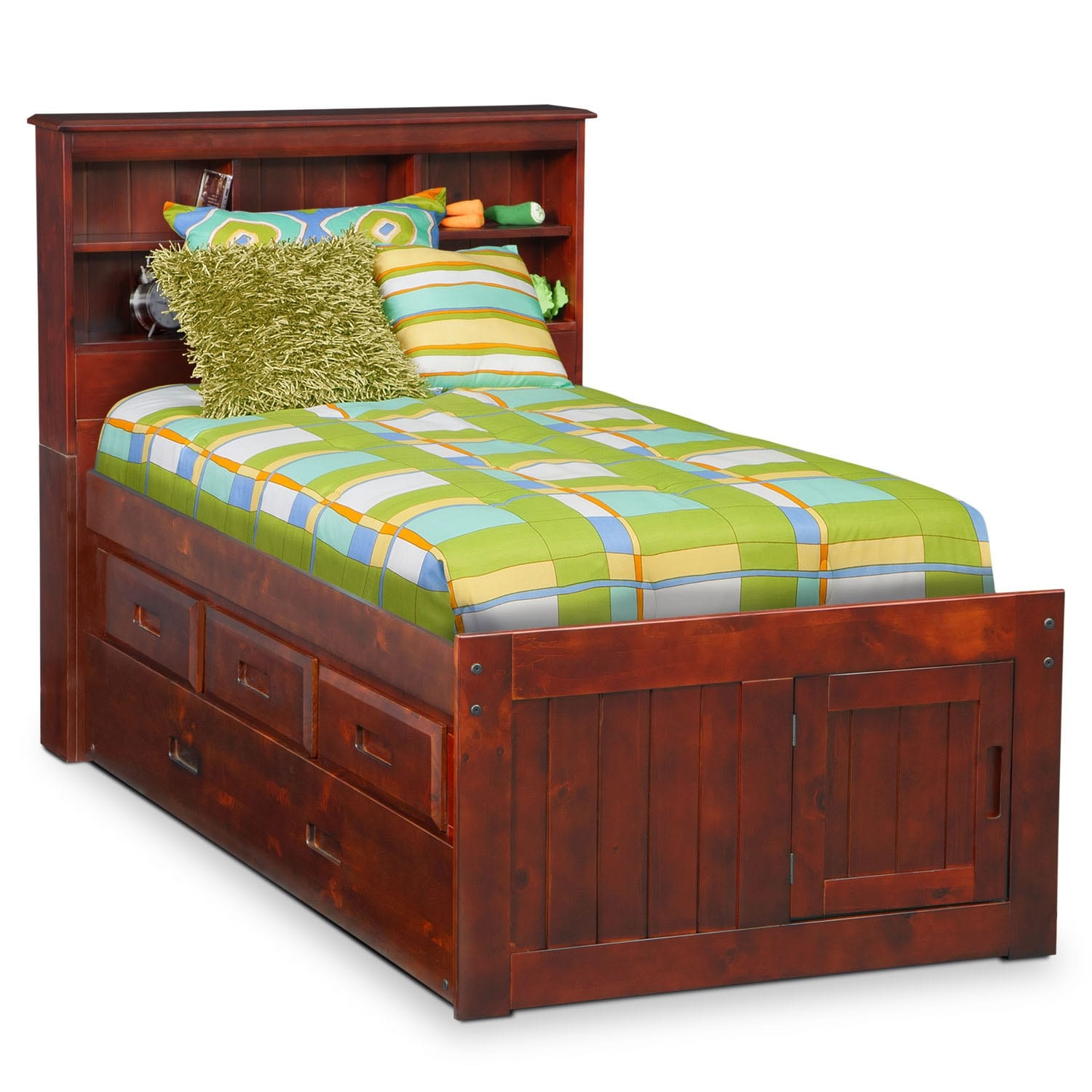 Ranger Full Bookcase Bed With 3 Underbed Drawers And