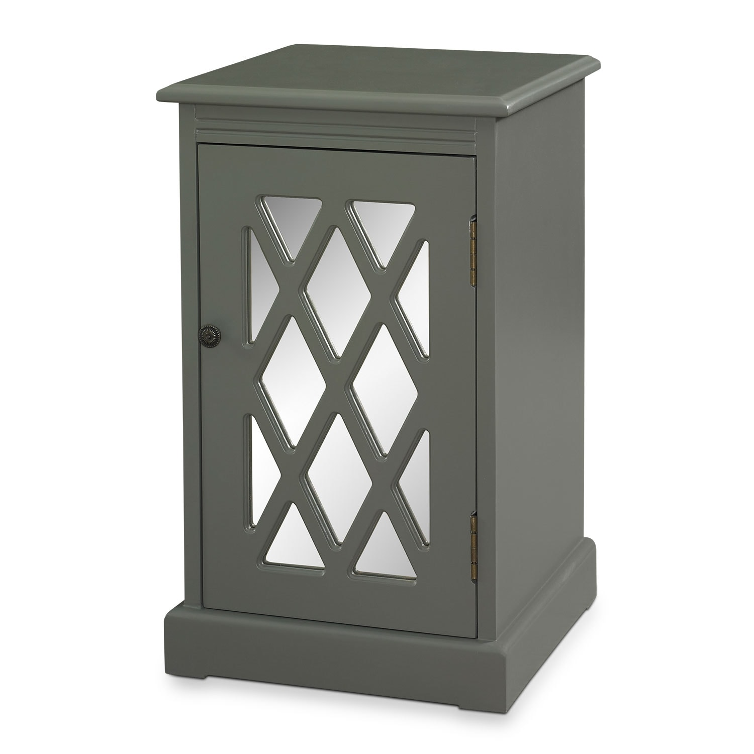 Accent and Occasional Furniture - Story Side Table - Gray