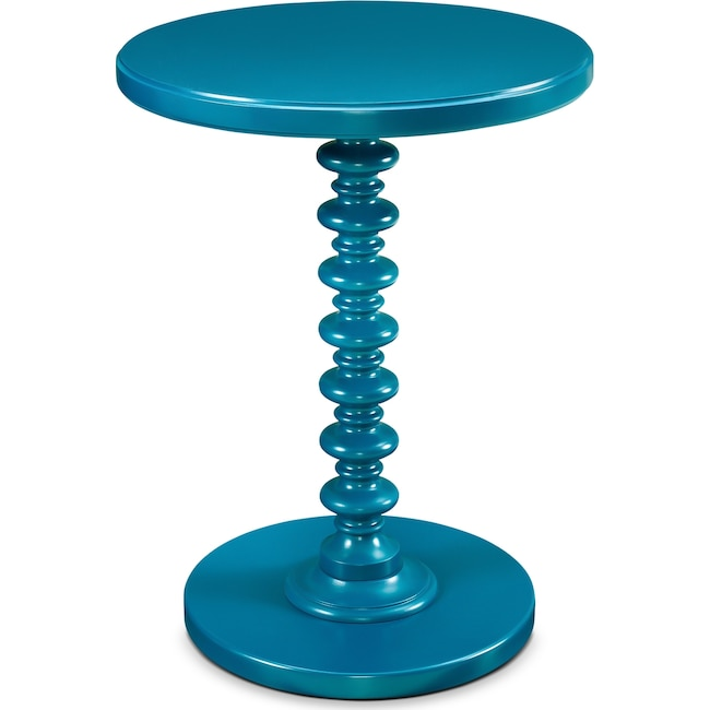 Accent and Occasional Furniture - Kobi Accent Table - Teal
