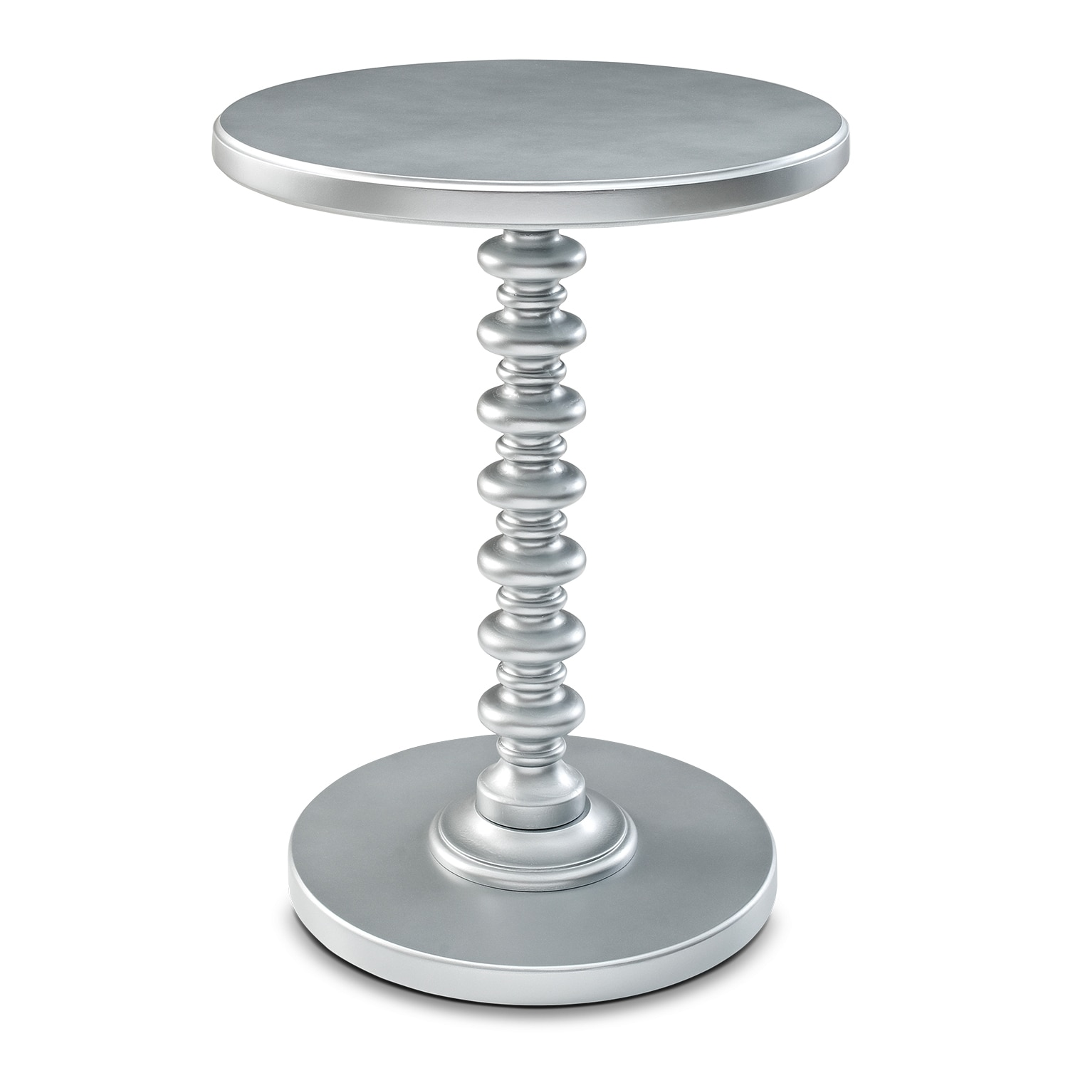 Accent and Occasional Furniture - Kobi Accent Table - Silver