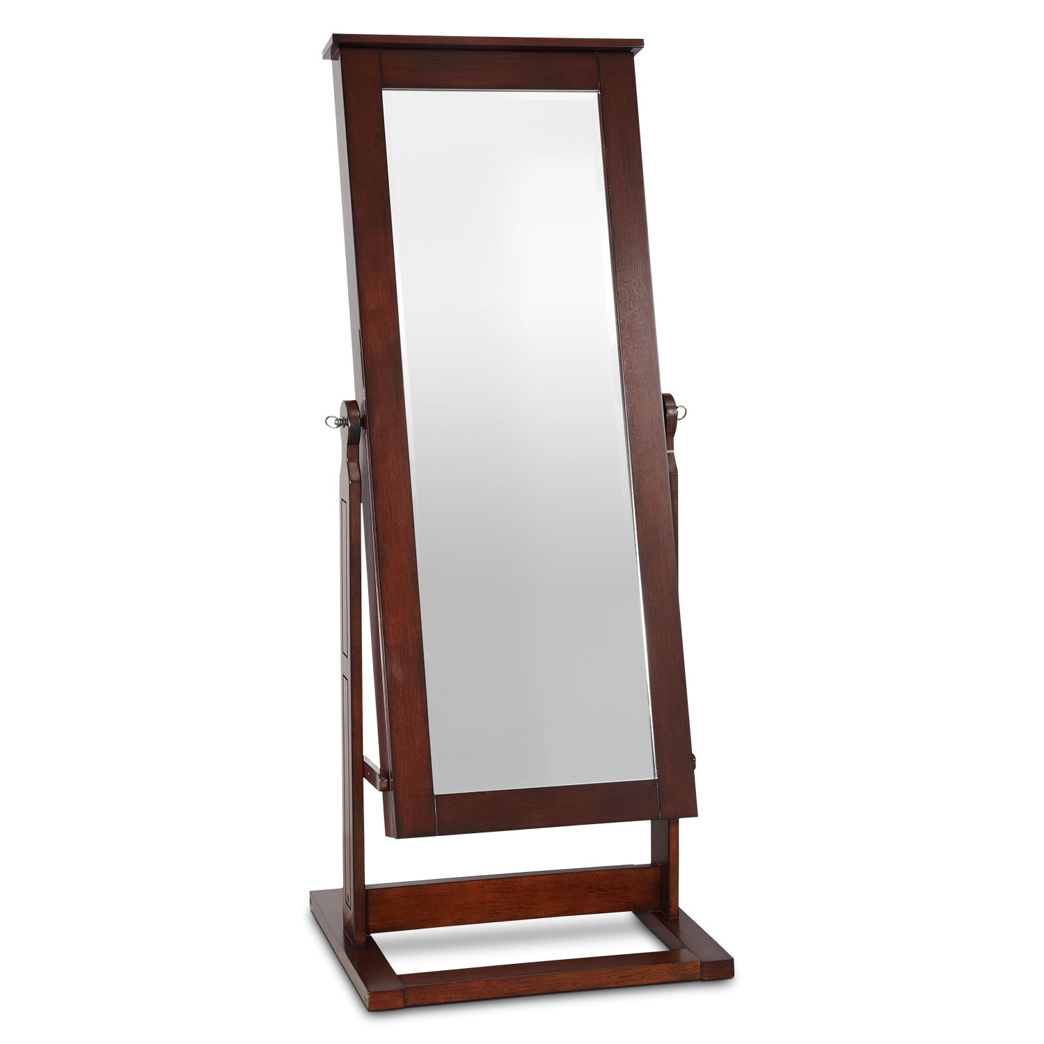 Perrie Cheval Storage Mirror - Walnut