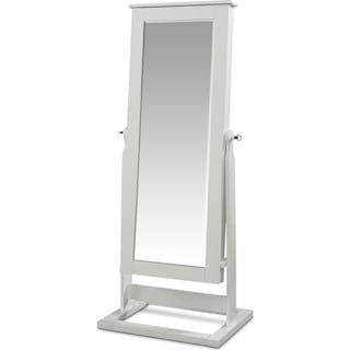 Perrie Cheval Storage Mirror - White