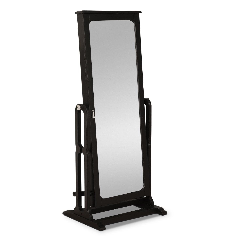 Bedroom Furniture - Sadie Cheval Storage Mirror - Black