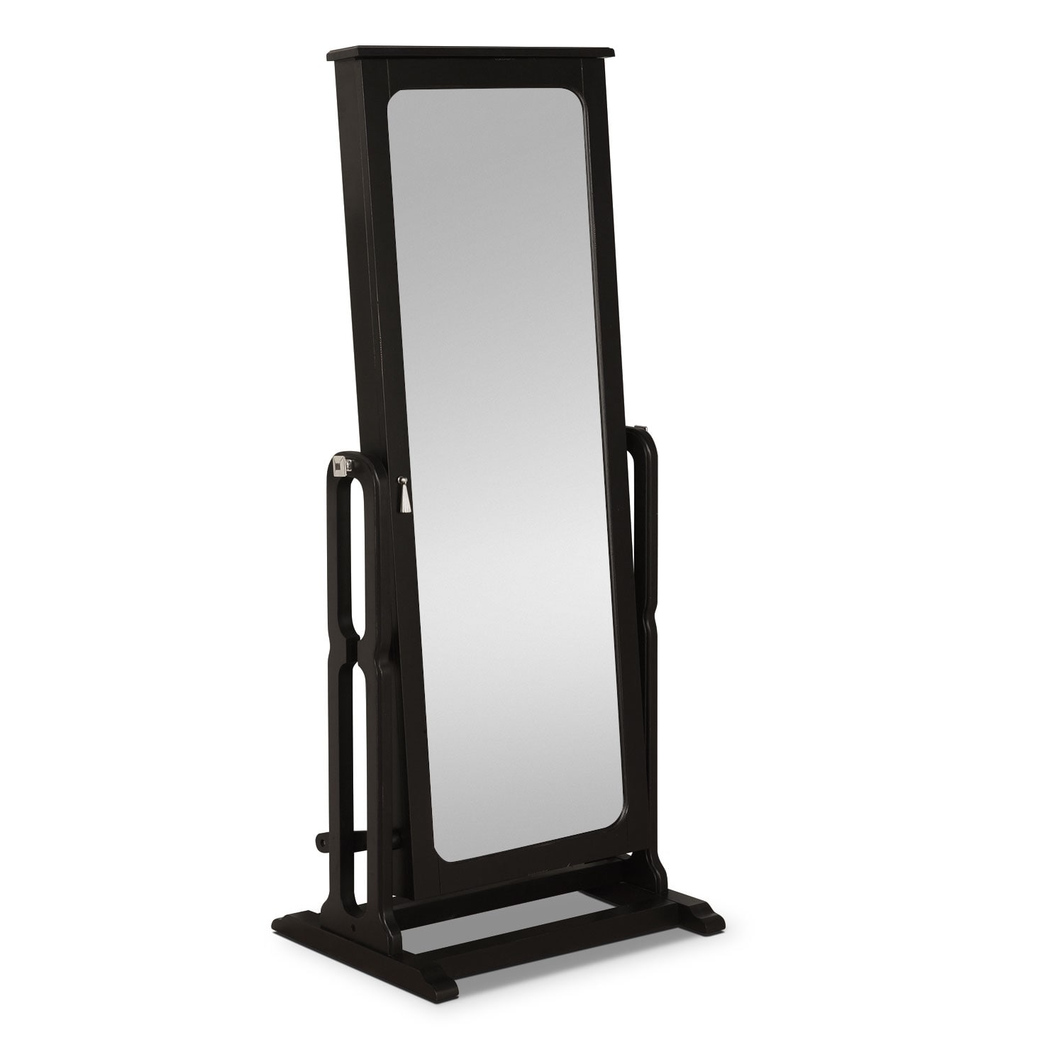 Accent and Occasional Furniture - Sadie Cheval Storage Mirror - Black