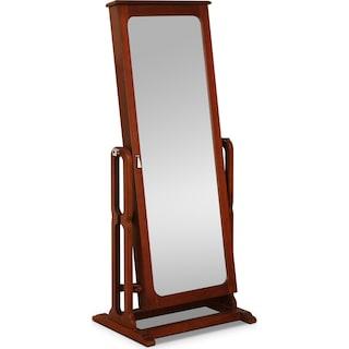 Sadie Cheval Storage Mirror - Cherry