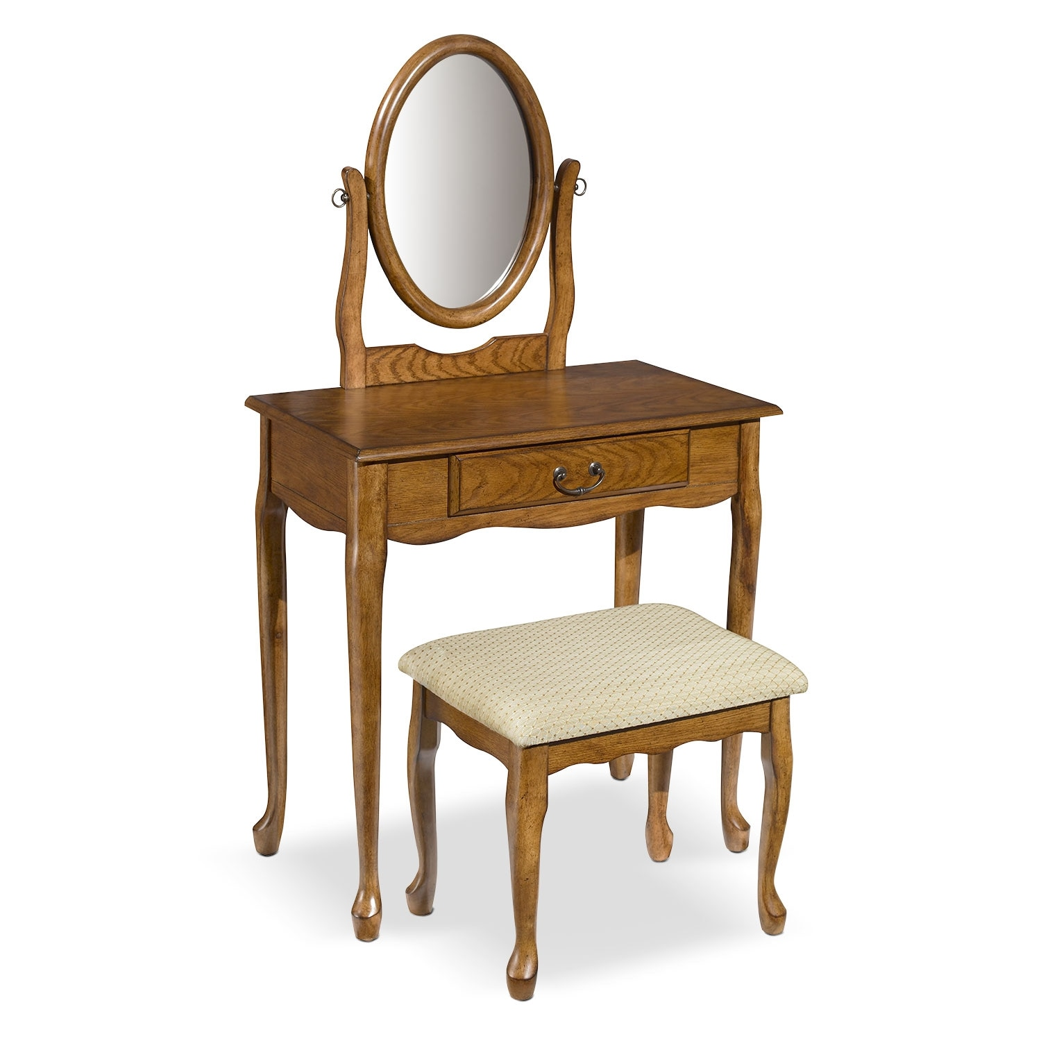 Accent and Occasional Furniture - Gracie Vanity Set - Oak