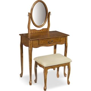 Gracie Vanity Set - Oak