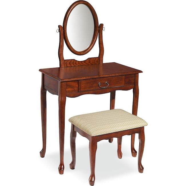 Bedroom Furniture - Gracie Vanity Set - Cherry