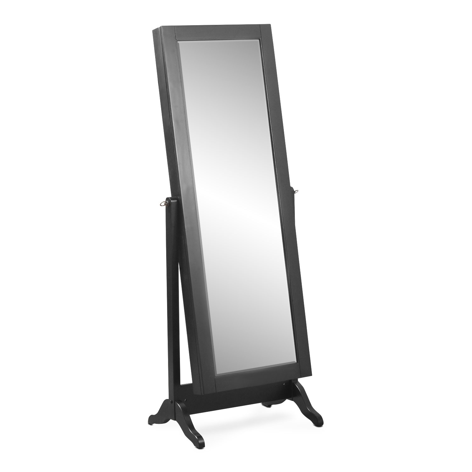 Bedroom Furniture - Loren Cheval Storage Mirror - Black