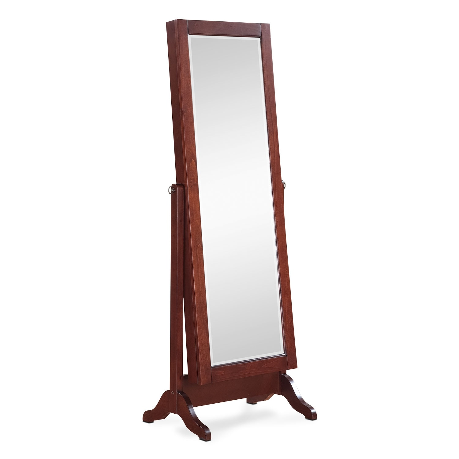 Loren Cheval Storage Mirror - Cherry