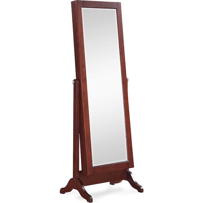 Bedroom Furniture - Loren Cheval Storage Mirror - Cherry
