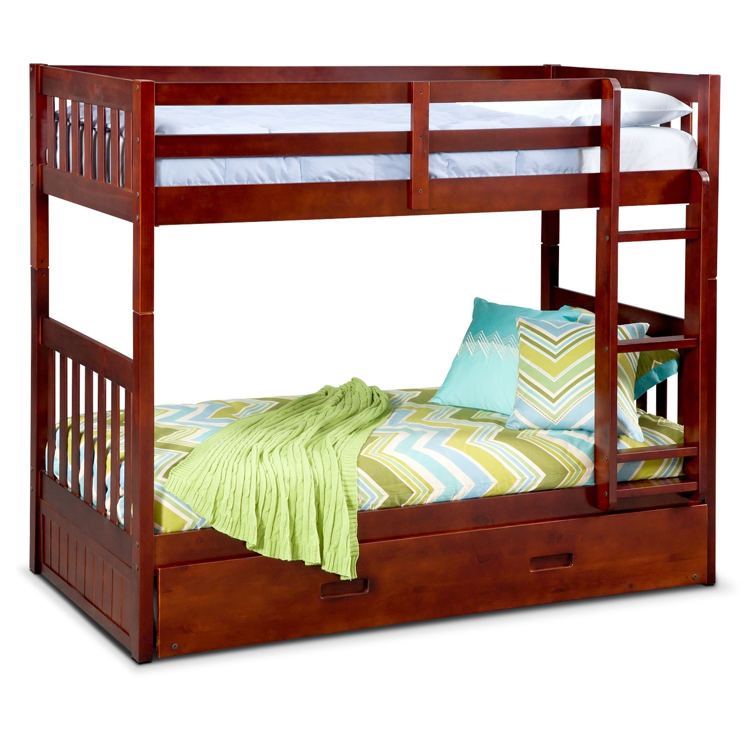 Zoom Room Bed Reviews Ranger Twin Over Twin Bunk Bed With Trundle Merlot American
