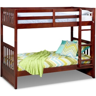 Ranger Twin over Twin Bunk Bed - Merlot
