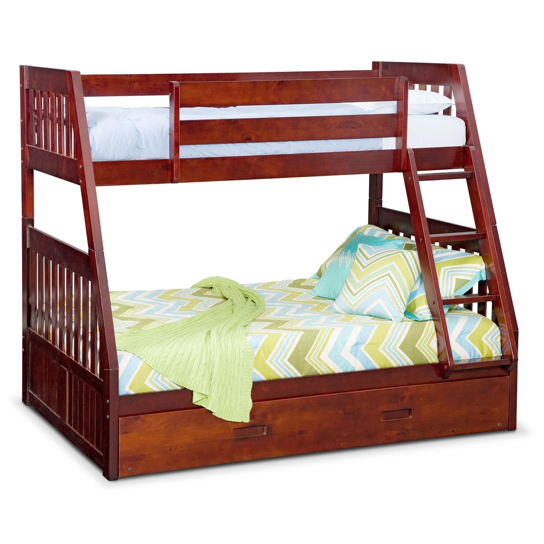 Merlot Loft Bunk Bed Twin Over Full