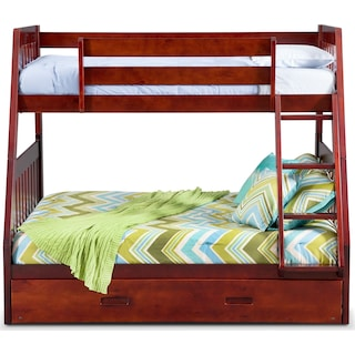 Ranger Twin over Full Bunk Bed with Twin Trundle
