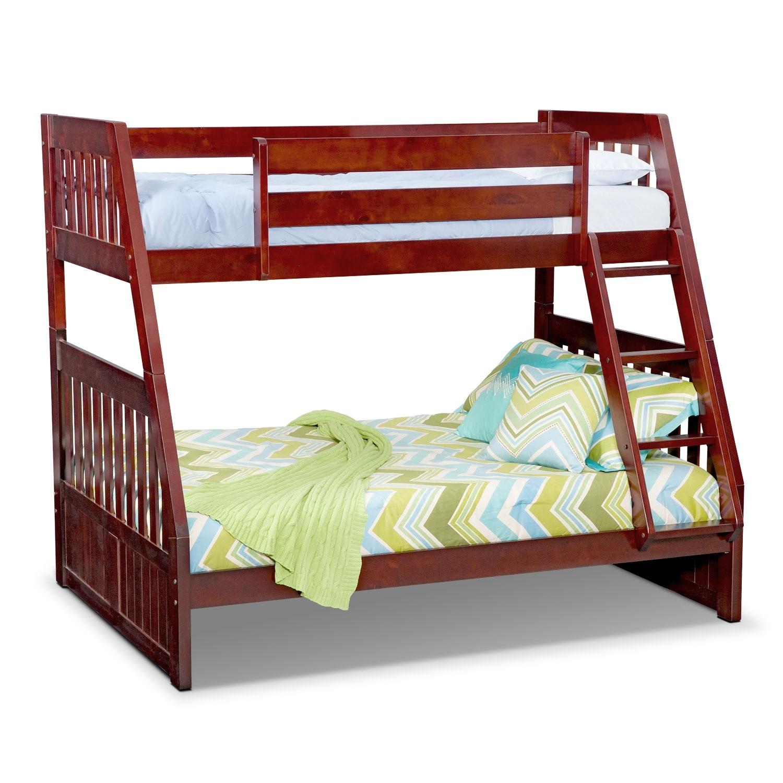 Kids Furniture - Ranger Merlot Twin/Full Bunk Bed