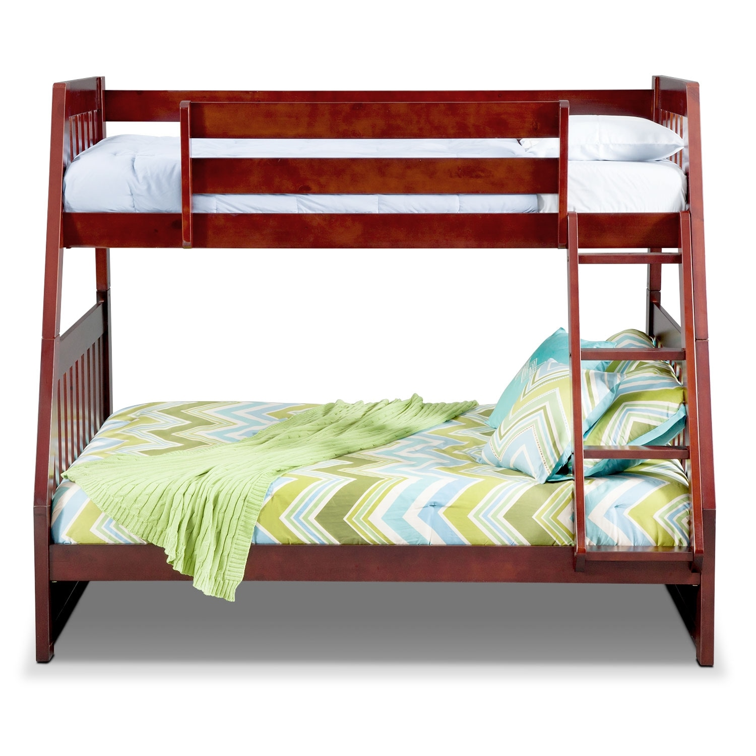 Ranger Twin over Full Bunk Bed Merlot