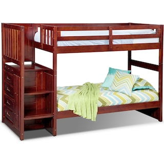 Ranger Twin over Twin Bunk Bed with Storage Stairs