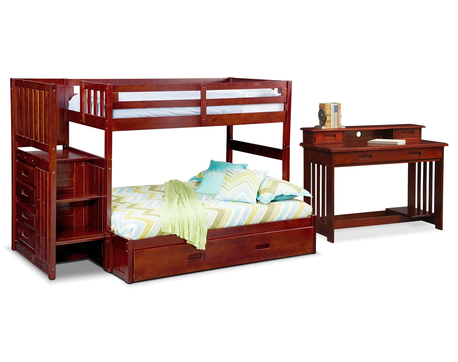 The Ranger Merlot Bunk Bed Collection